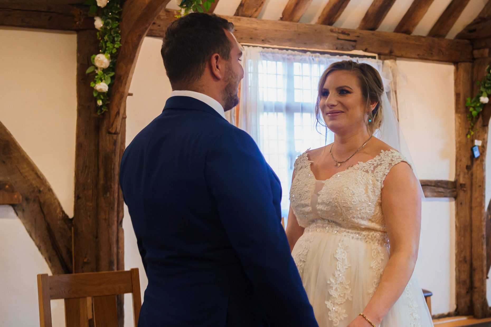 A wedding ceremony at Westgate Hall