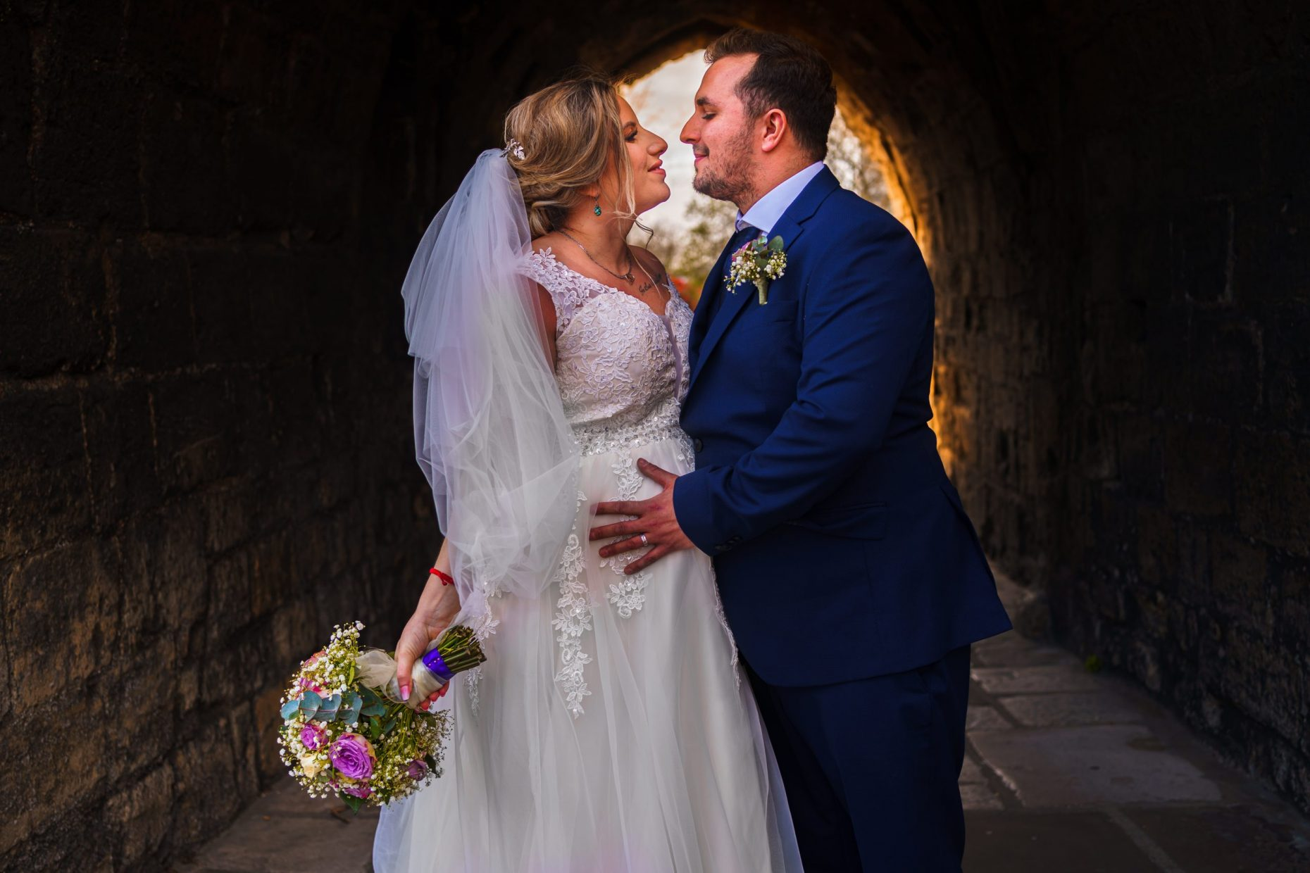 A bride & groom's couple portraits at Westgate Hall